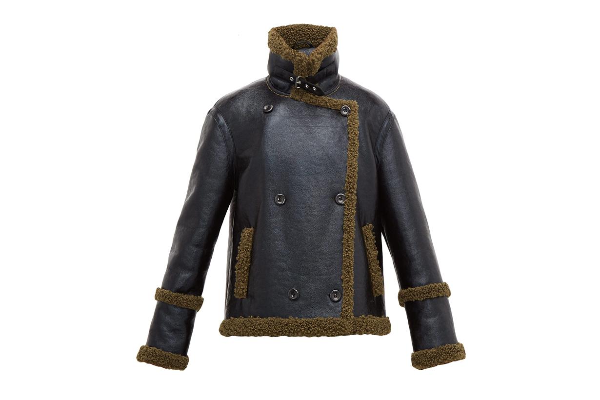 Lilli Faux Patent-leather Aviator Jacket