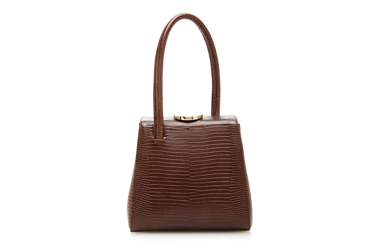 Little Liffner Mademoiselle Lizard-Embossed Leather Bag