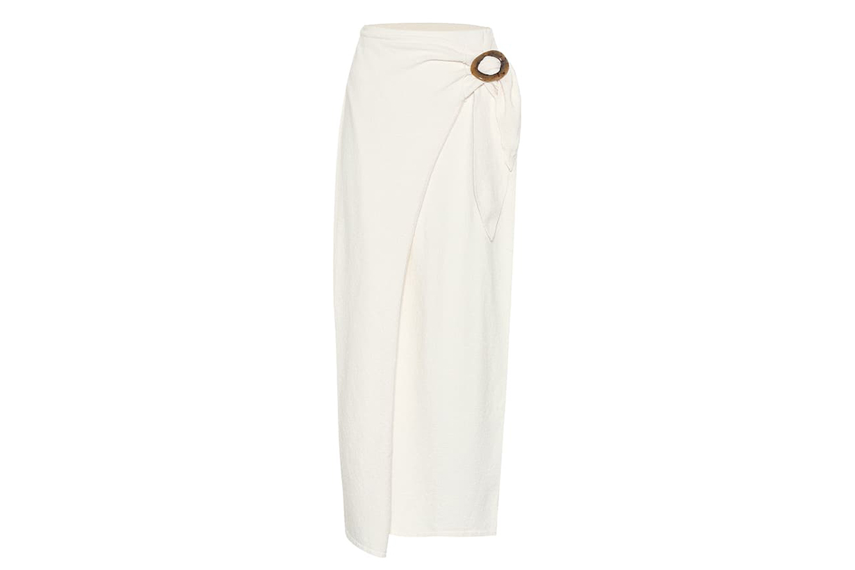 NANUSHKA Sasha Terry Cloth Wrap Skirt