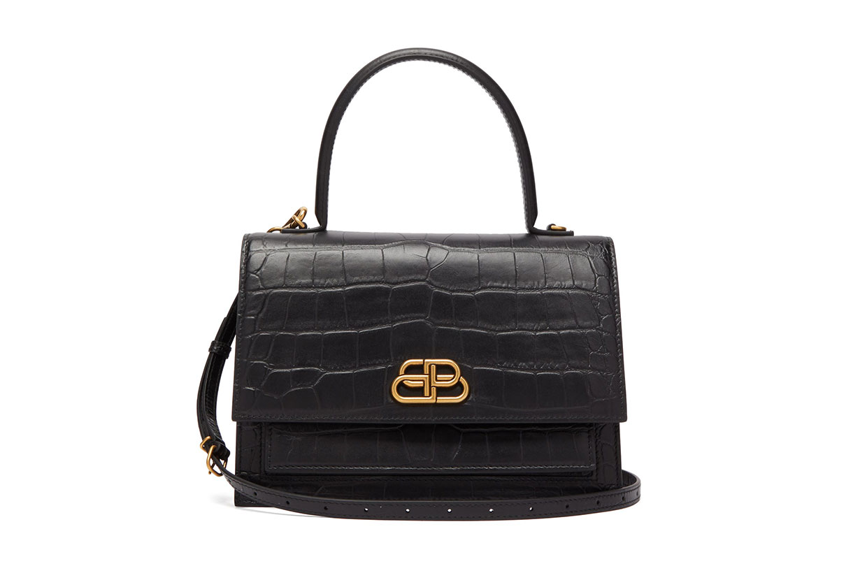 Sharp M Lizard-effect Leather Bag