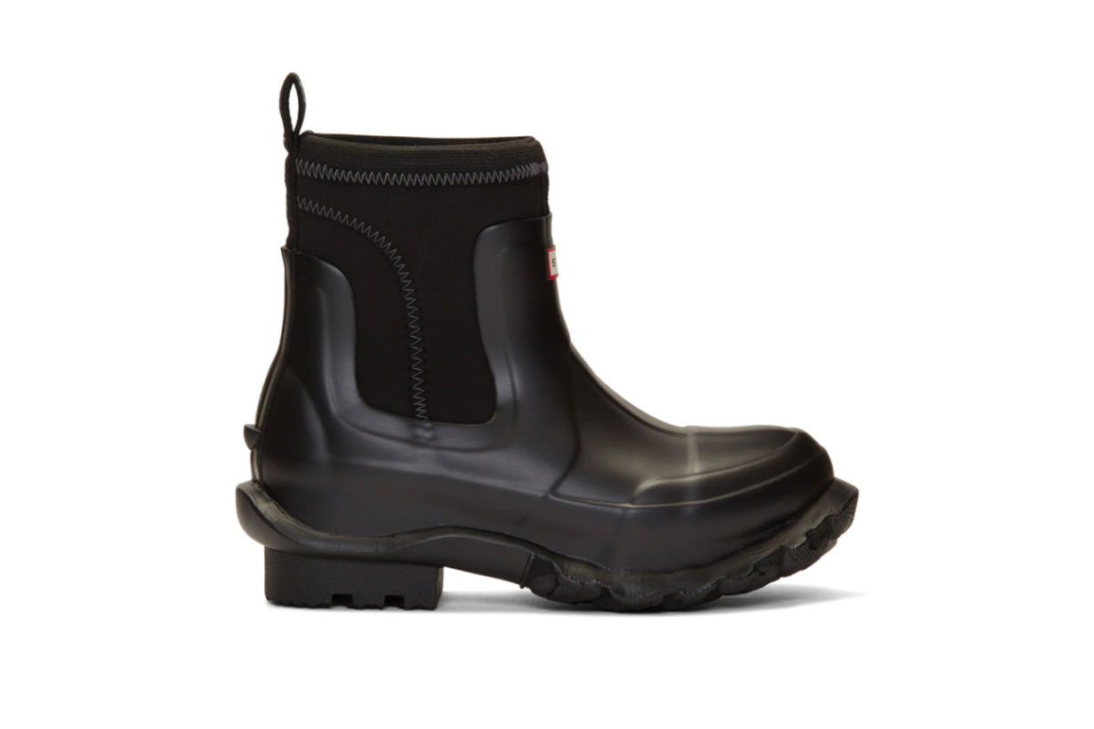 Stella McCartney Black Hunter Edition Rain Boots