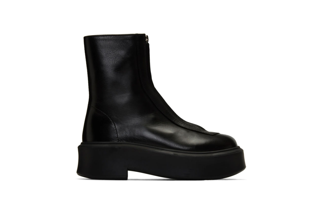 The Row Black Zipped Boots
