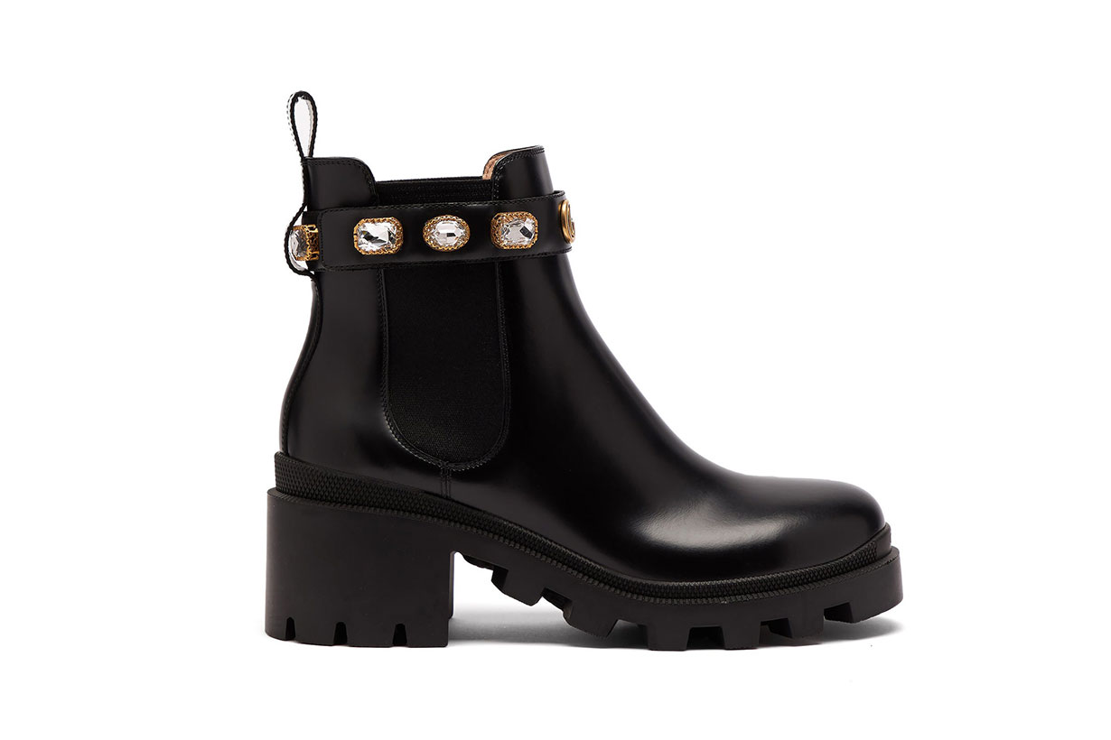 Trip Embellished Leather Chelsea Boots