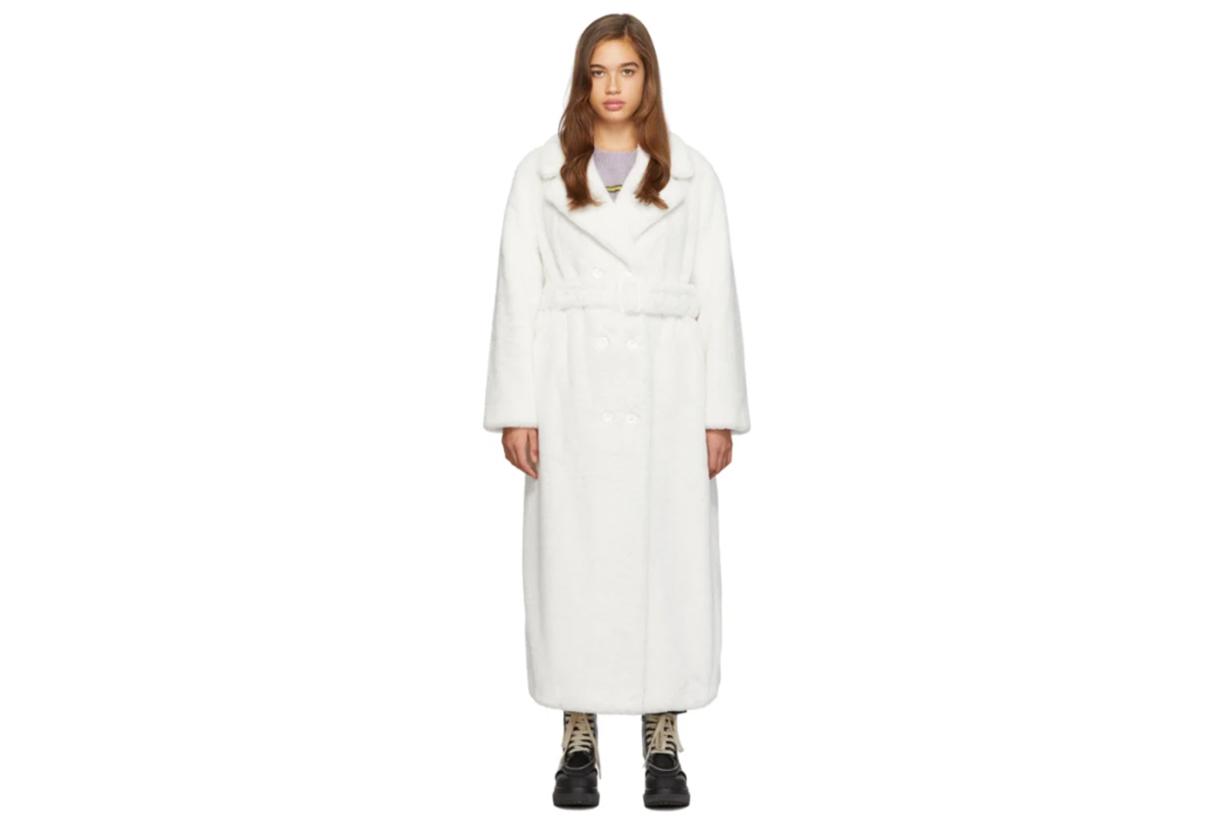White Long Faustine Coat