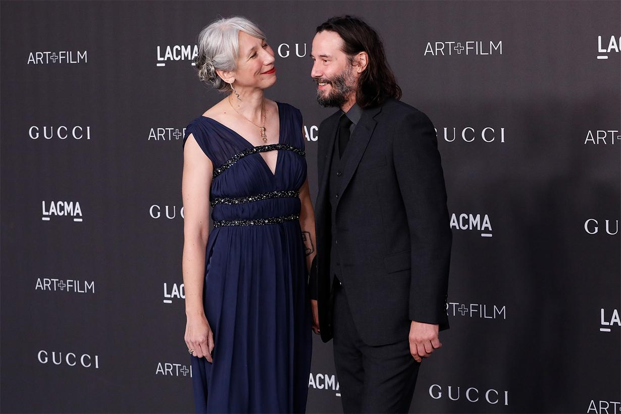Keanu Reeves Alexandra Grant Girlfriend Celebrities couples LACMA Art + Film Gala Helen Mirren Artist Ode to Happiness Shadows