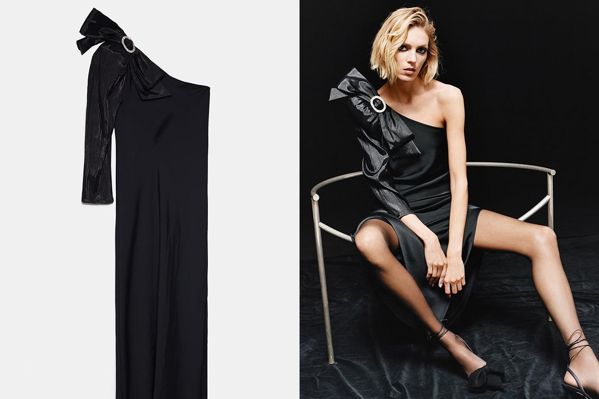 Zara-不對稱設計緞面洋裝599