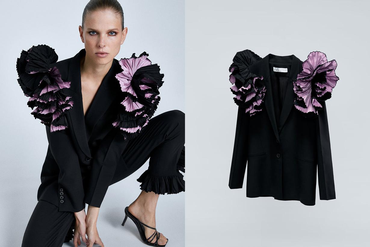 Zara-肩部細節設計西裝外套999