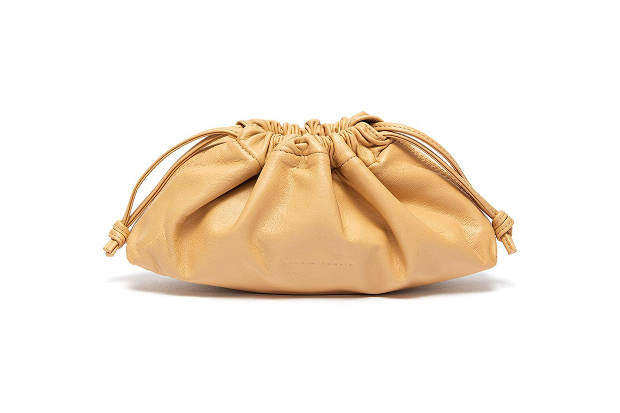 1.1 Mini Drawstring Leather Bag