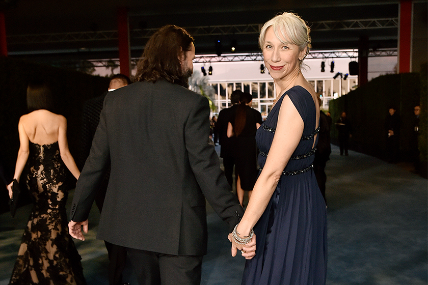 Keanu Reeves Girlfriend Alexandra Grant White Hair Color