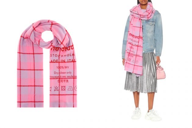 acne studios scaves except basic 2019 winter