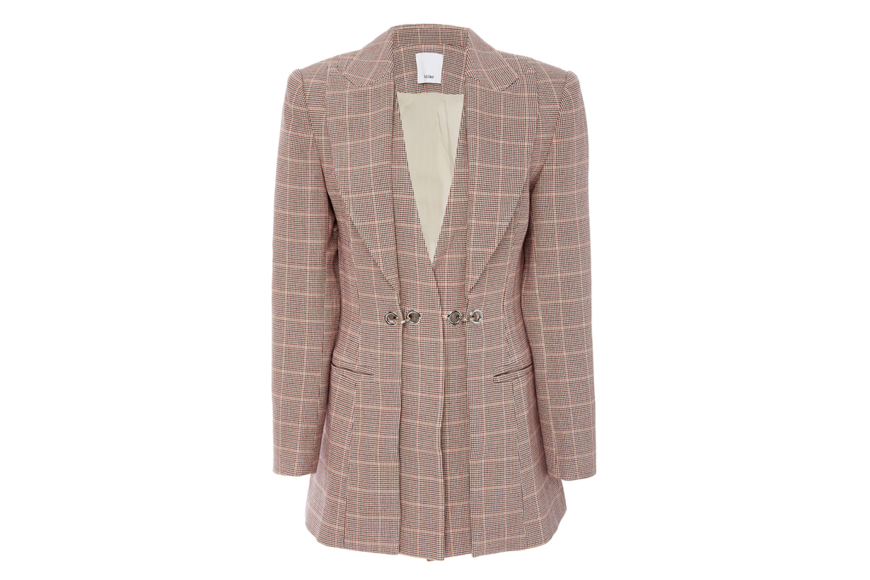 Acler Fairfax Plaid Twill Blazer