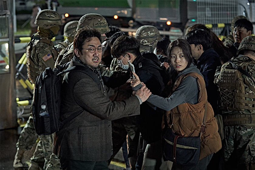 ashfall korean disaster movie Bae Suzy Ha Jung‑woo Ma Dong‑Seok Lee Byung‑hun