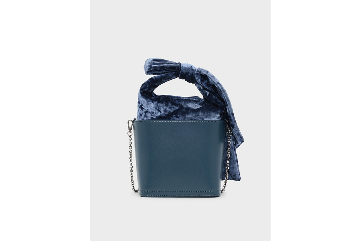 Bow Detail Handle Bucket Bag