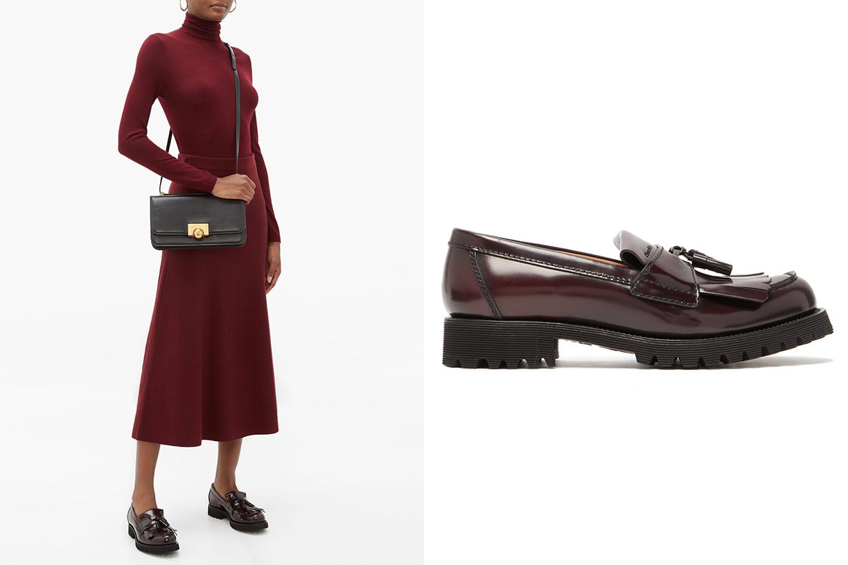 Catrina Tassel Leather Loafers