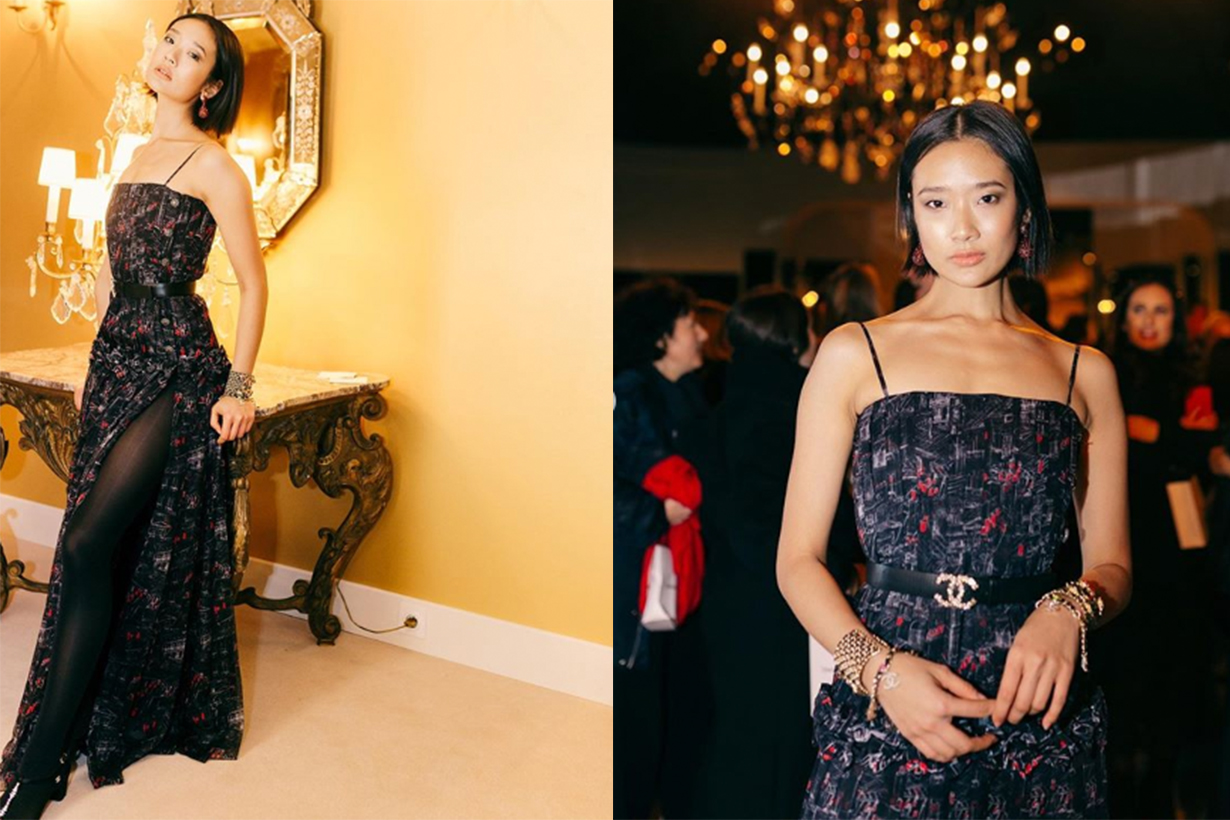 Chutimon Chuengcharoensukying attends the photocall of the Chanel Metiers d'art 2019-2020 show at Le Grand Palais