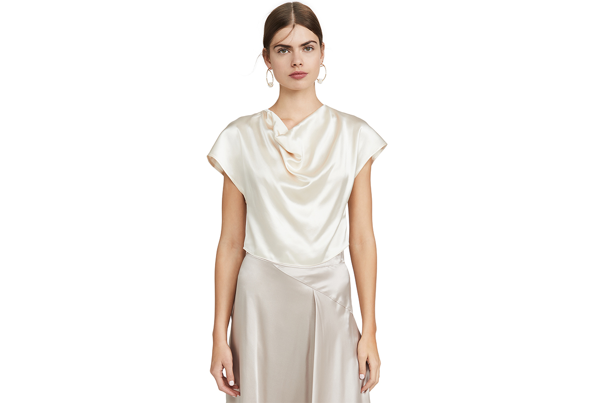 Cowl Neck Silk Top
