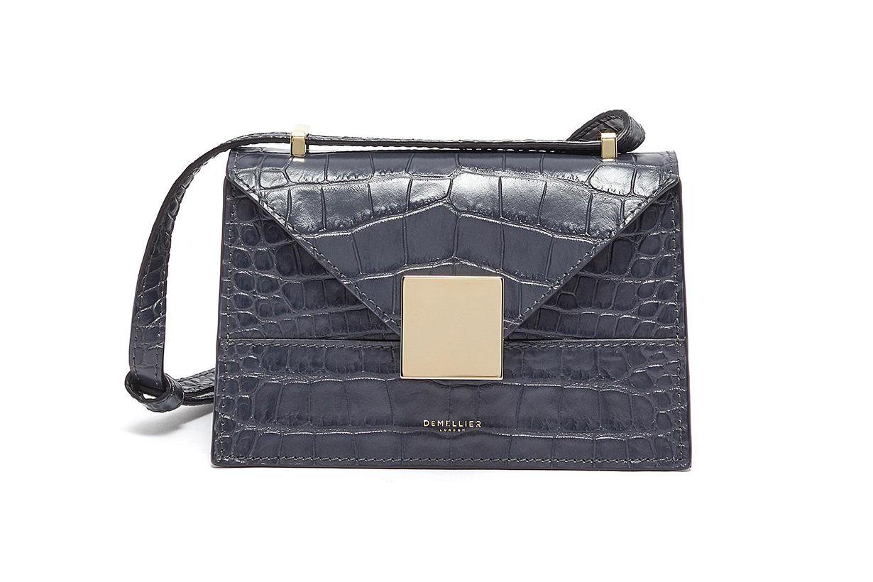 DeMellier Mini Copenhagen Croc-embossed Crossbody Bag