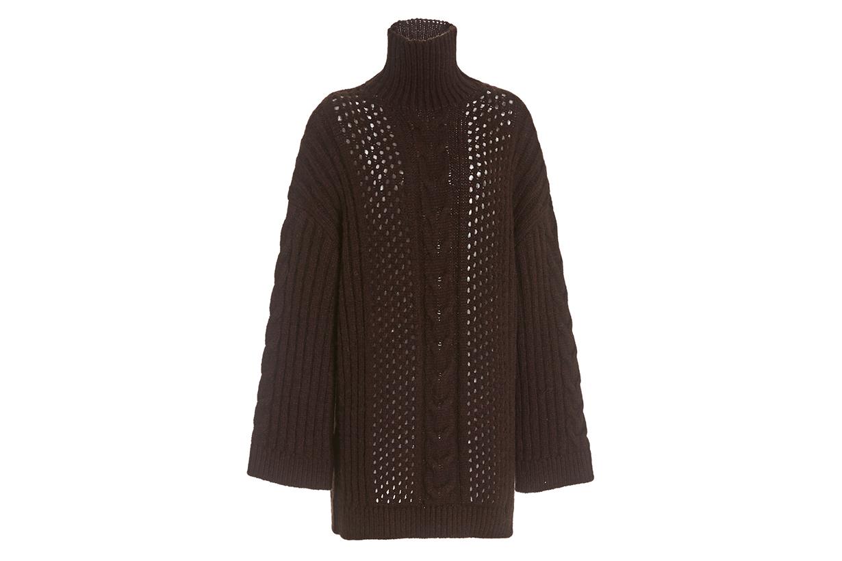Diya Oversized Knit Turtleneck Sweater