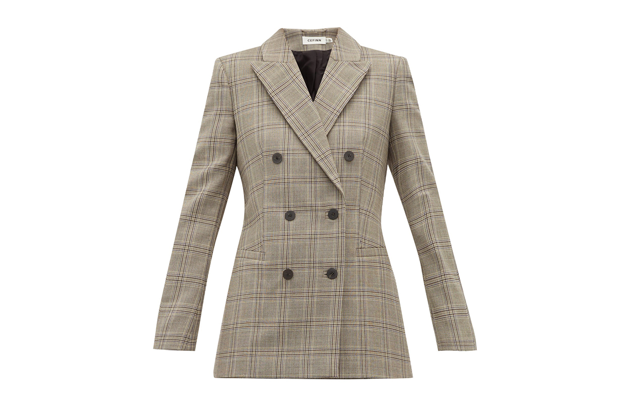 Double-breasted Prince of Wales-check Blazer