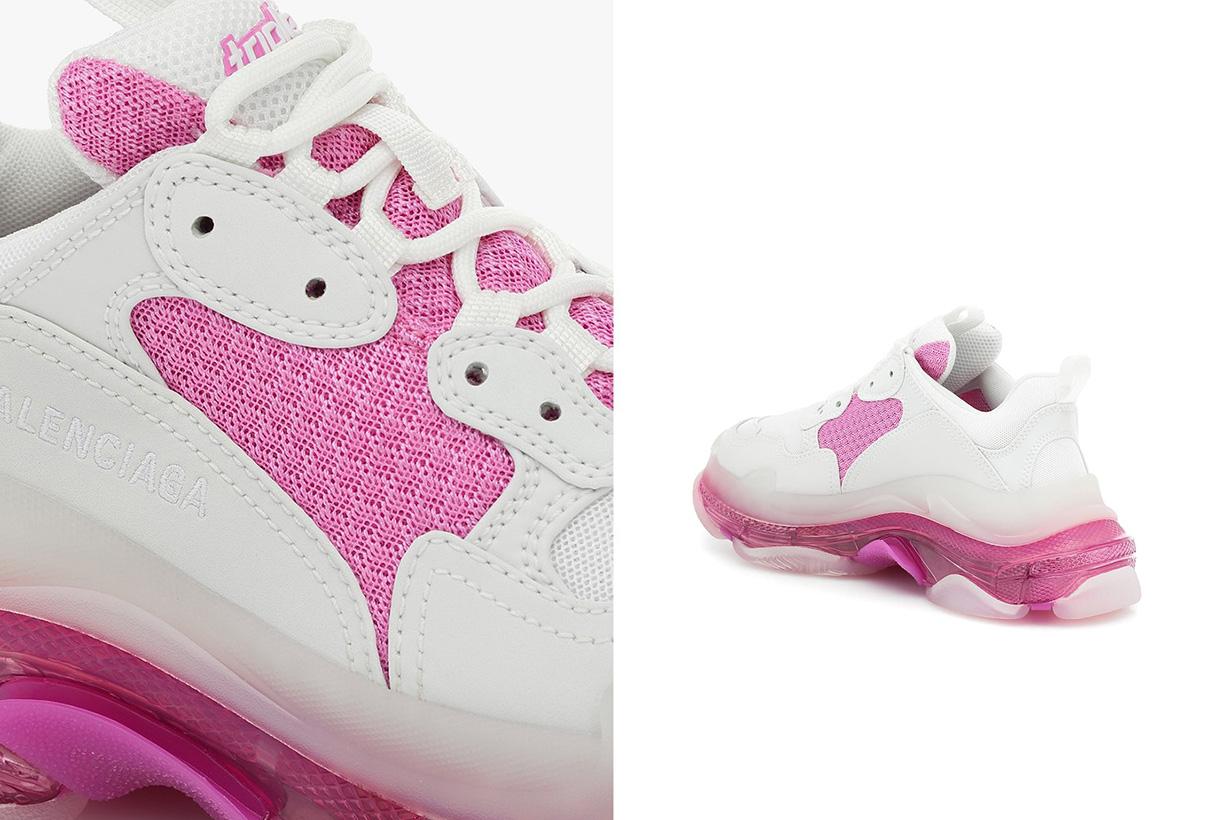 balenciaga triple s chunky sneakers white pink pre spring 2020 release