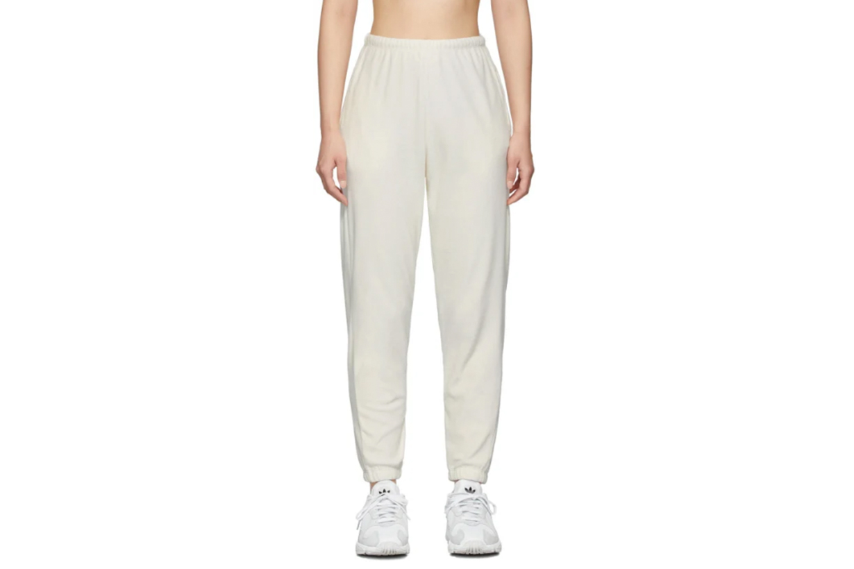 Gil Rodriguez SSENSE Exclusive Off-White Velour Beachwood Lounge Pants