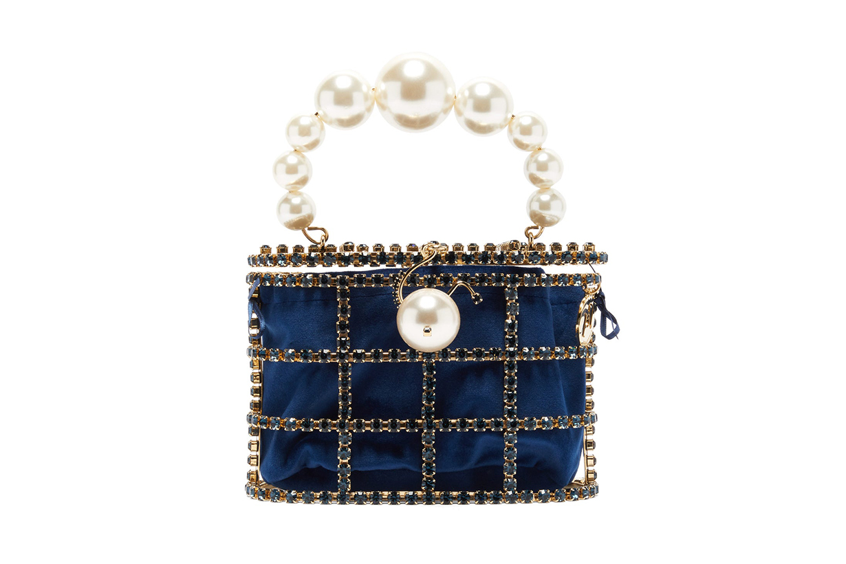 Holli Crystal-embellished Cage Clutch