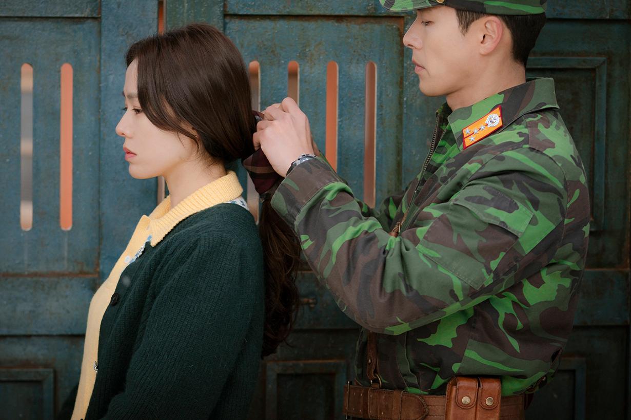 Hyun Bin Son Ye Jin Netflix Crash Landing on You Scarf hairstyles low ponytail hairstyles trend 2020 korean idols celebrities actors actresses korean drama