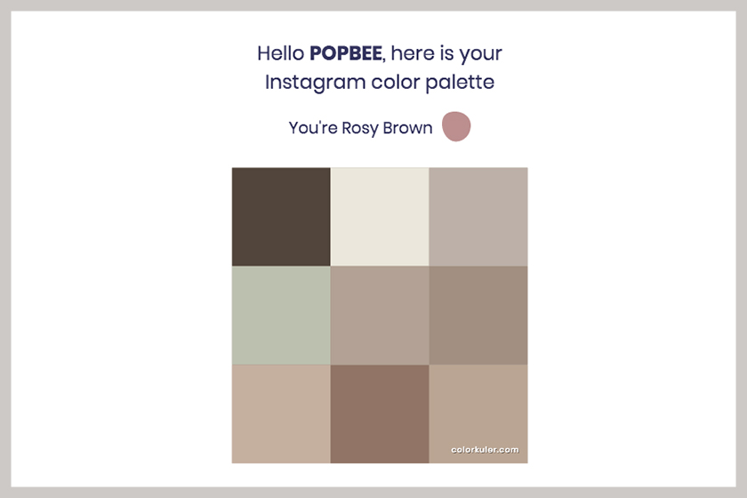 instagram color palette 2019