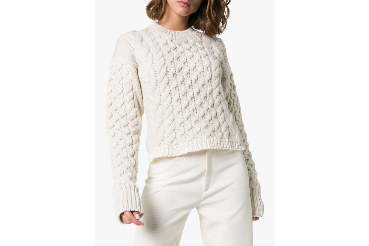 Joseph Cable Mix Knit Merino Wool Jumper