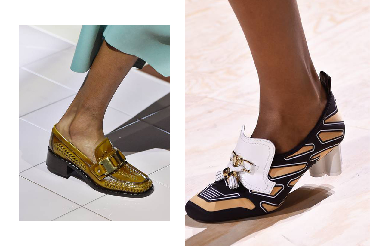 Prada, Louis Vuitton loafers