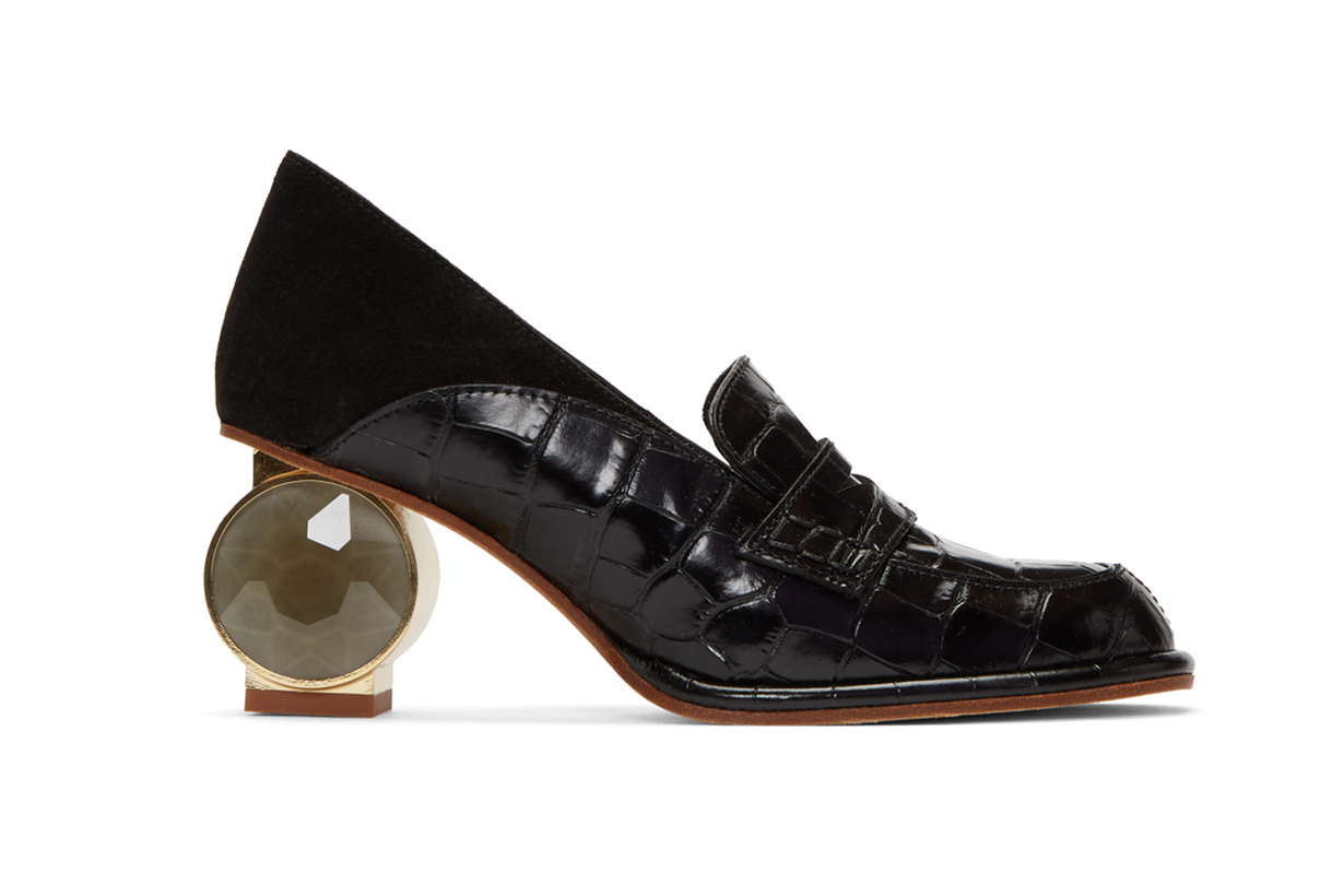 Loewe Black Strass Loafers
