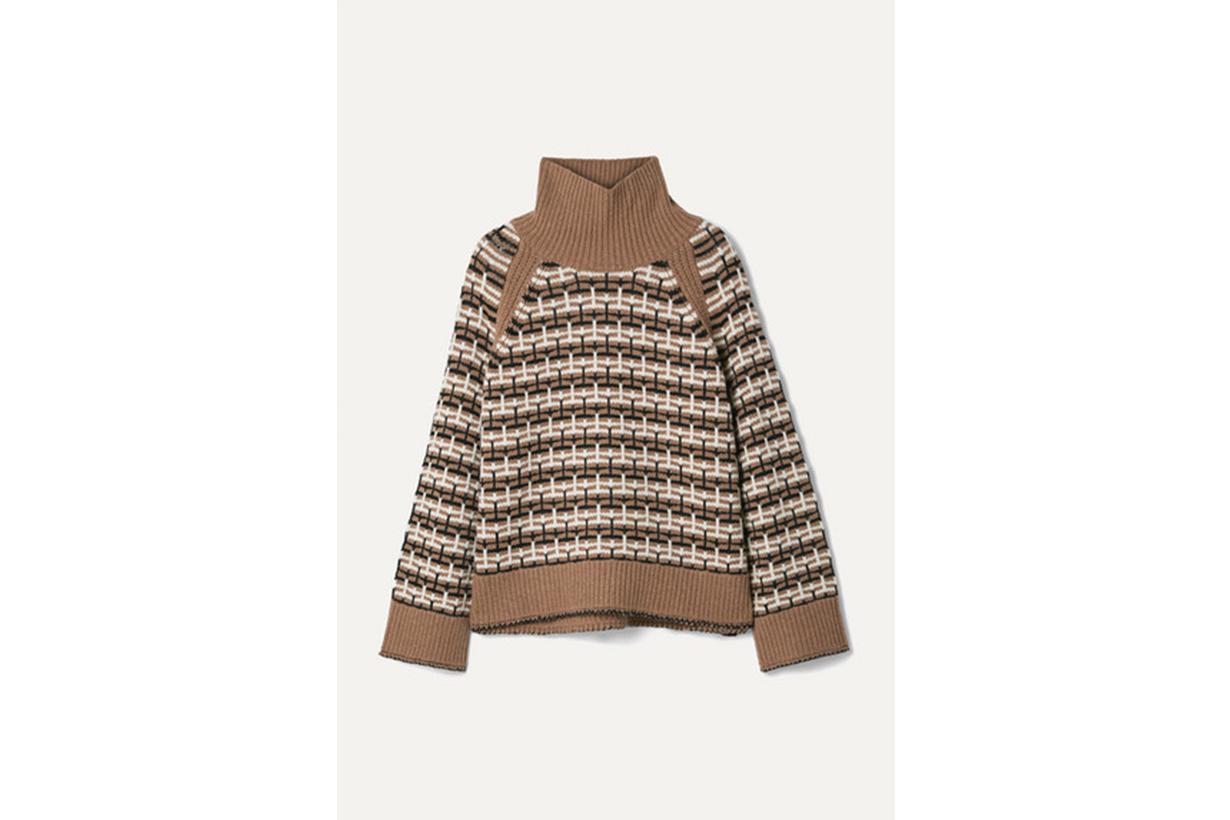 Lygos Intarsia Merino Wool-blend Turtleneck Sweater