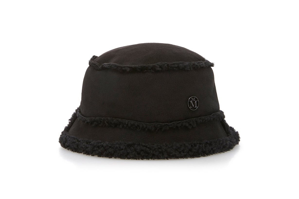 Maison Michel Malo Shearling Bucket Hat