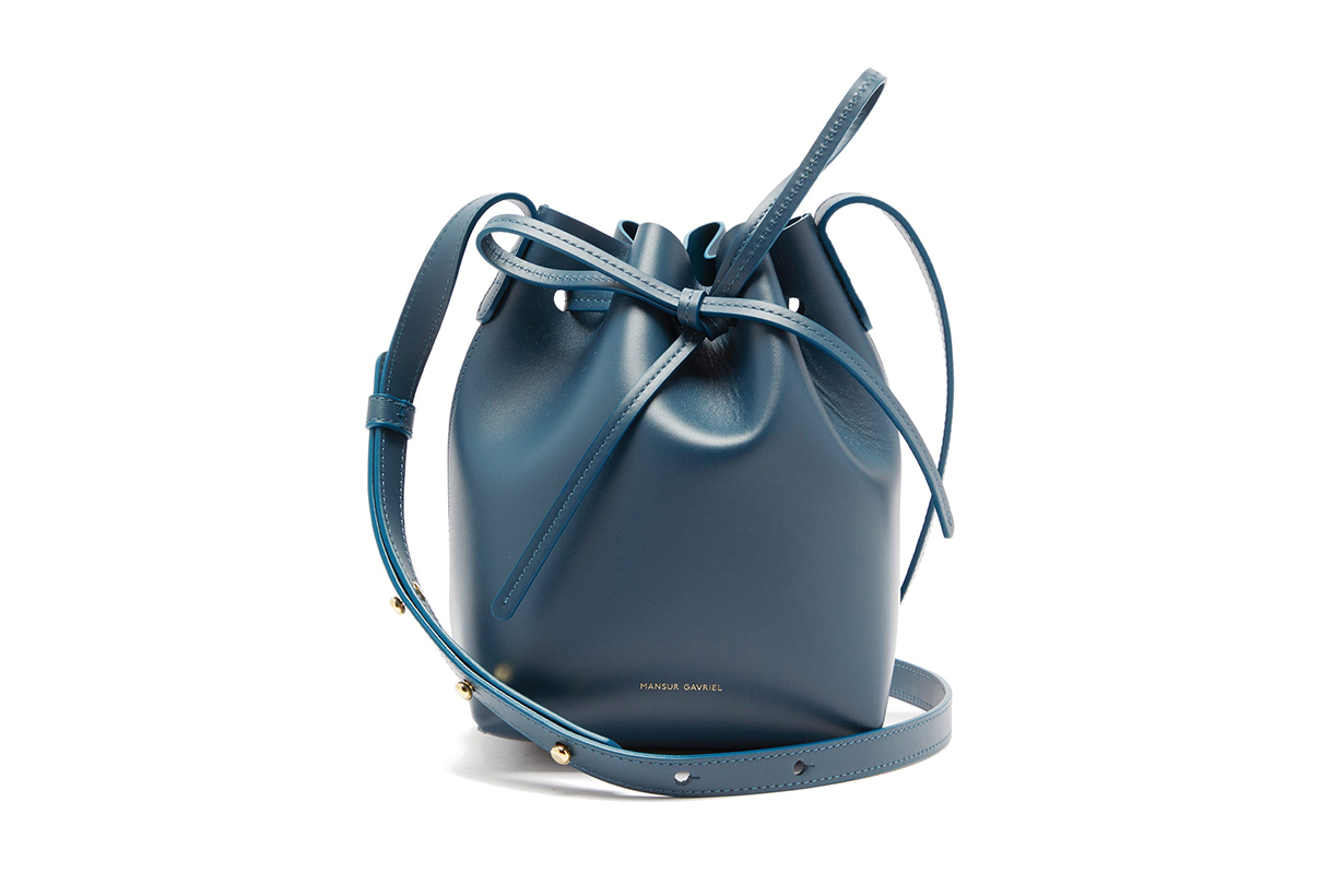 Mini Mini Leather Bucket Bag