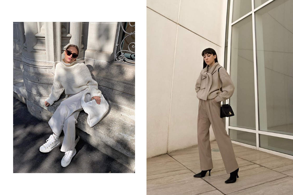 White Sweater Winter Street Style