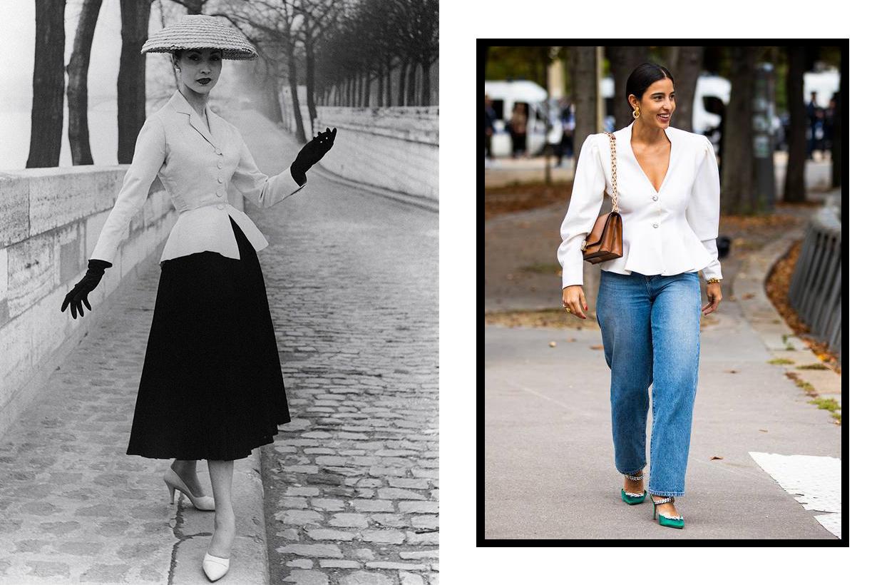 Dior New Look Peplum tops street style