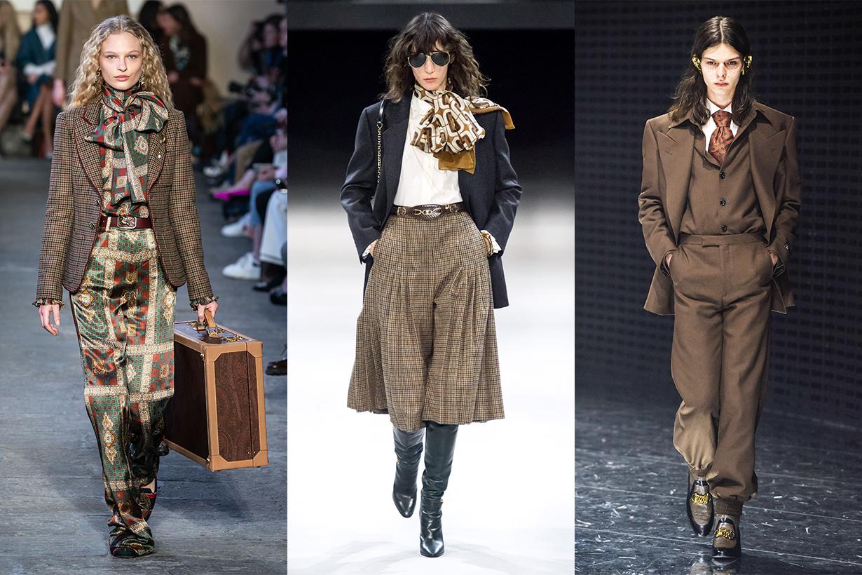 Etro, Celine, Gucci runway 2019 fall