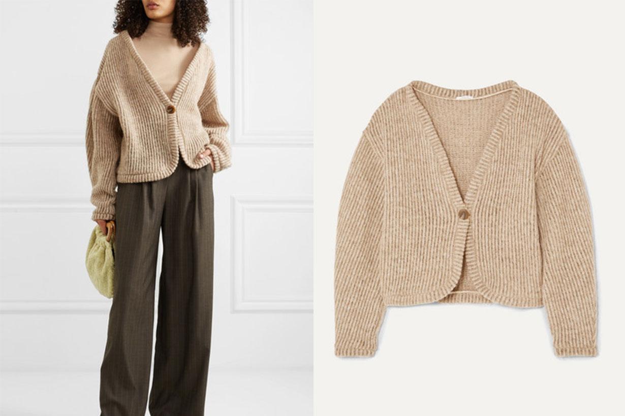 Ribbed Wool-blend Cardigan