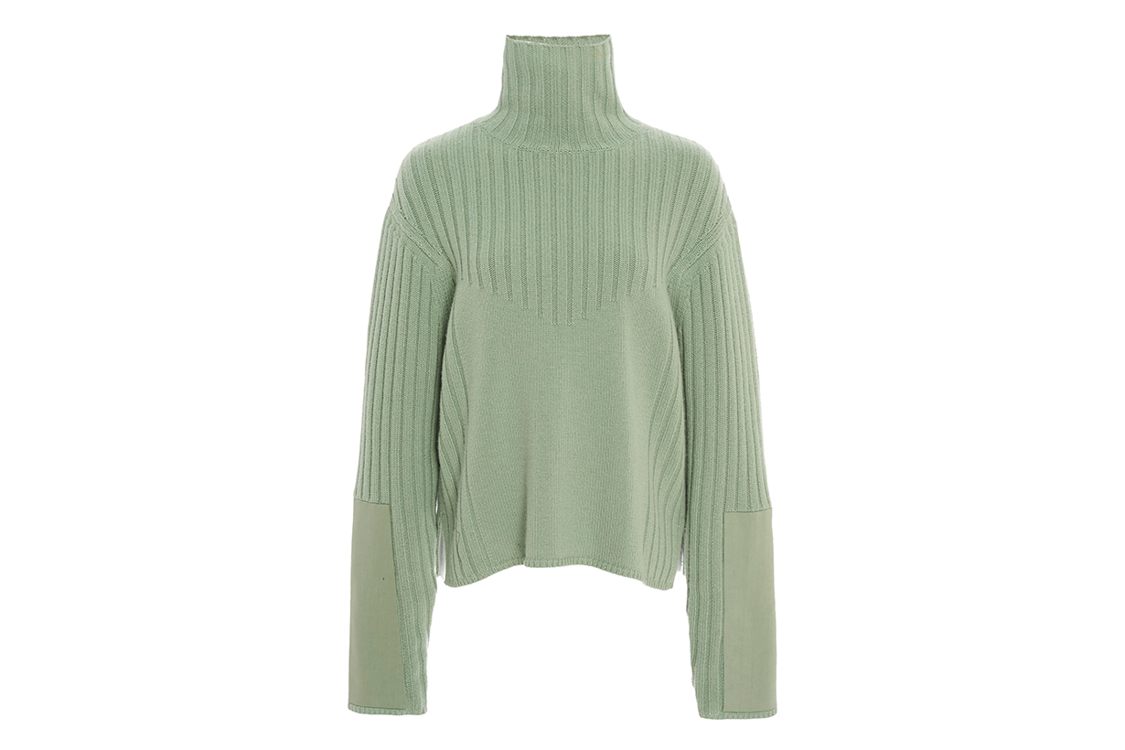 Ribbed Wool-Cashmere Turtleneck
