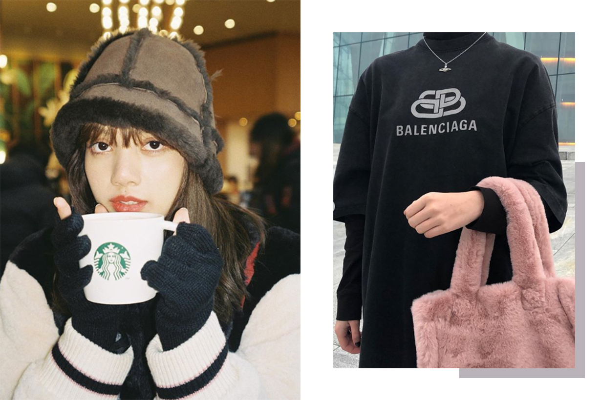 Shearling Hat and Handbags