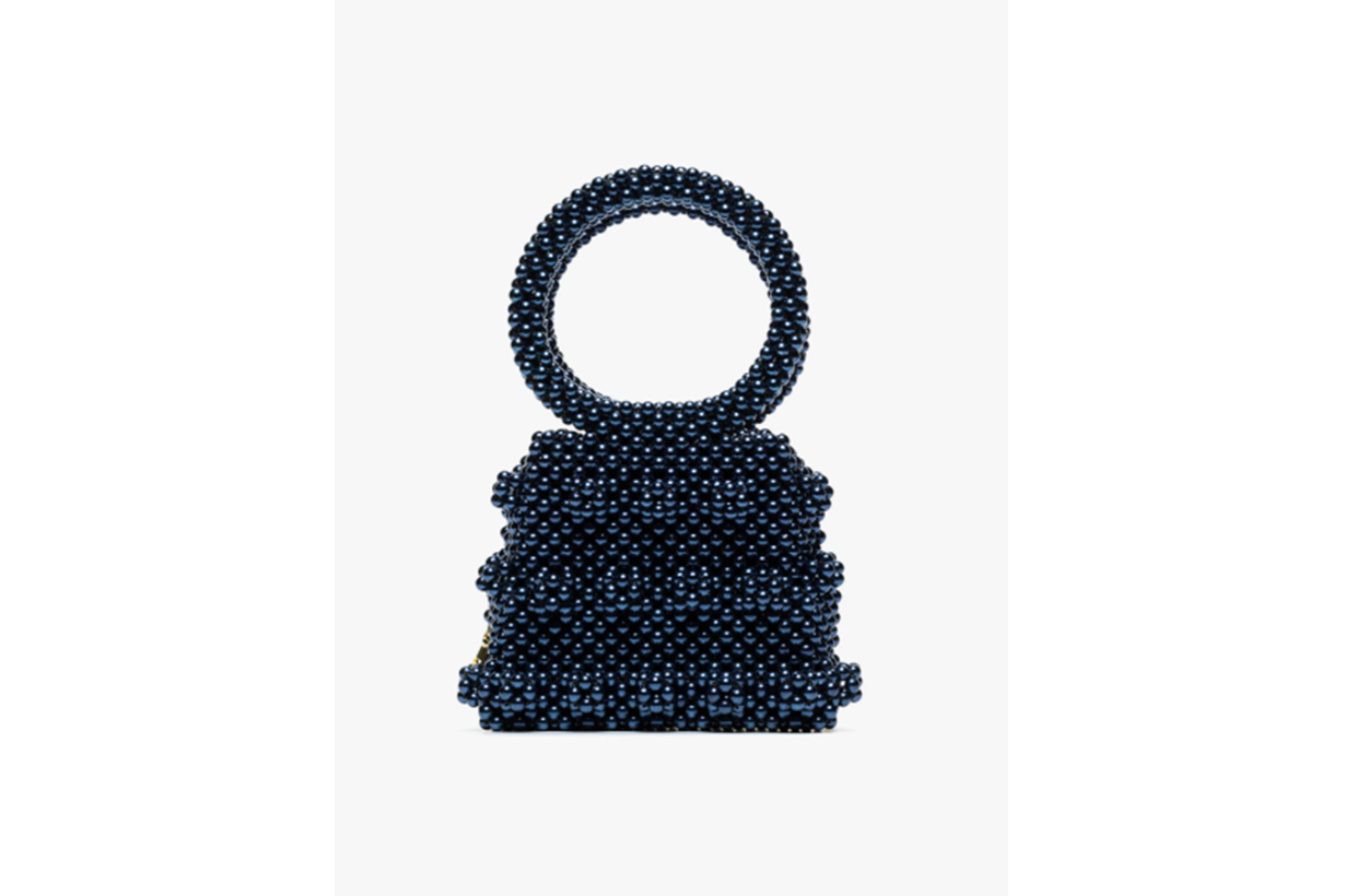 Shrimps Blue Dante Beaded Bracelet Bag