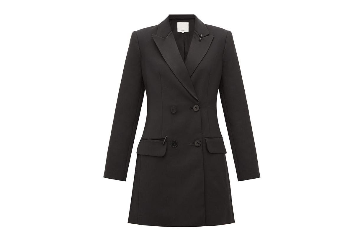 Stapled Crépe Tuxedo Mini Dress