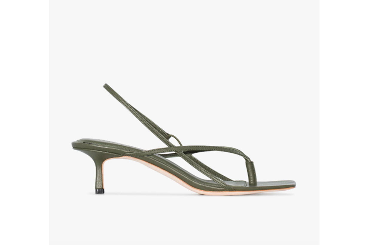 Studio Amelia Green 2.6 50 Leather Sandals