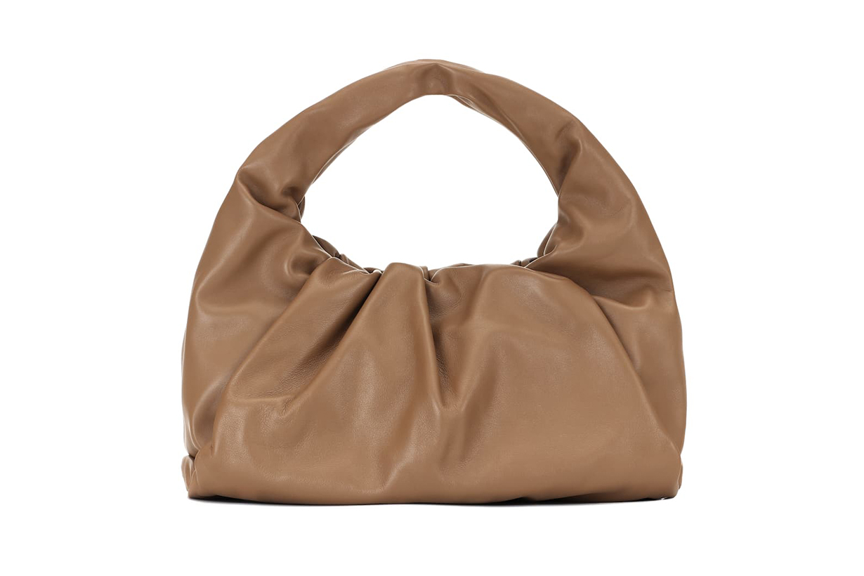 The Shoulder Pouch Small Leather Tote