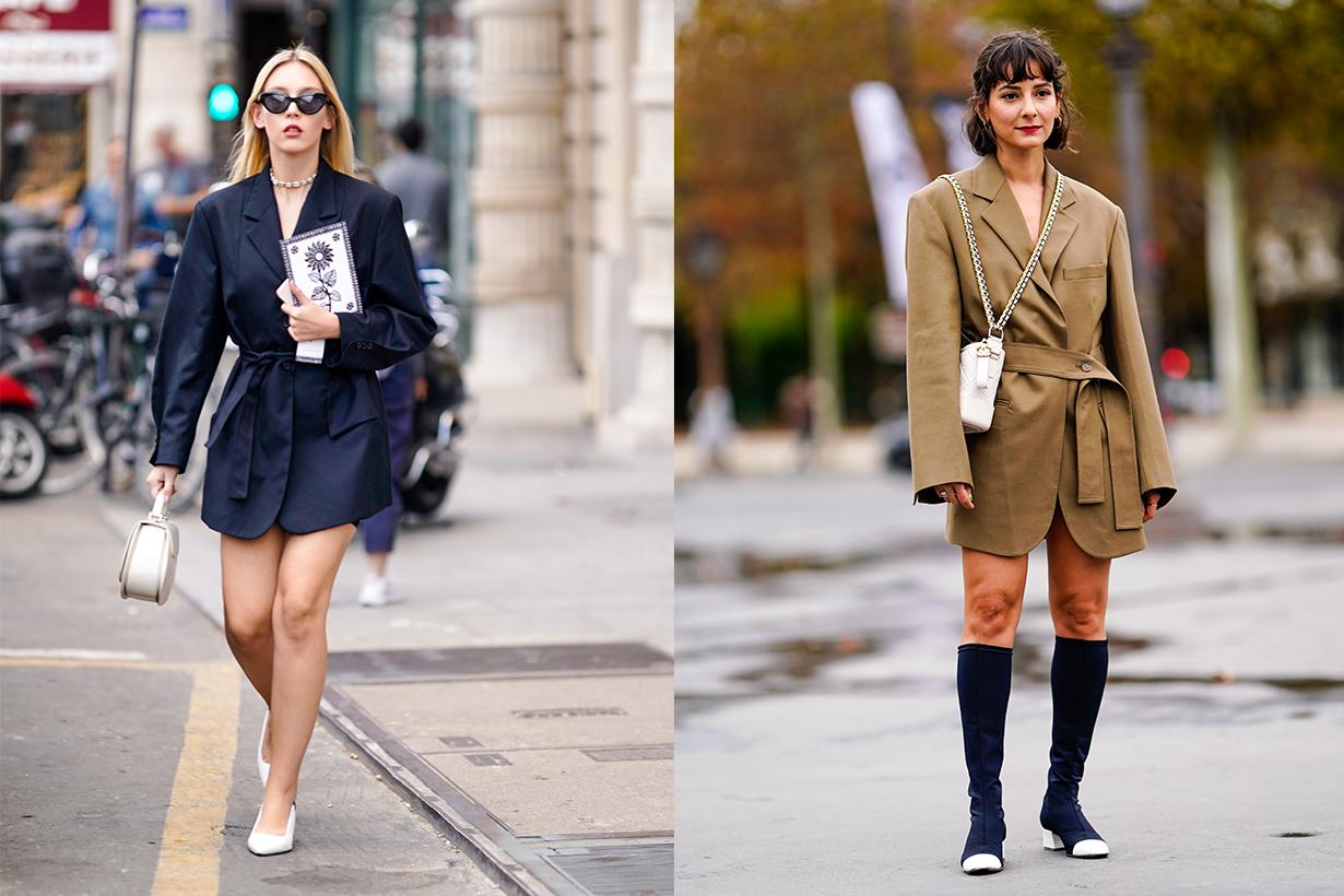 blazer jacket dress street style