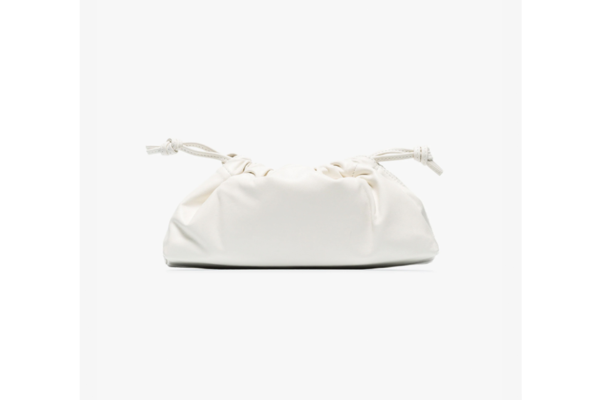 White 1.1 Drawstring Leather Mini Bag