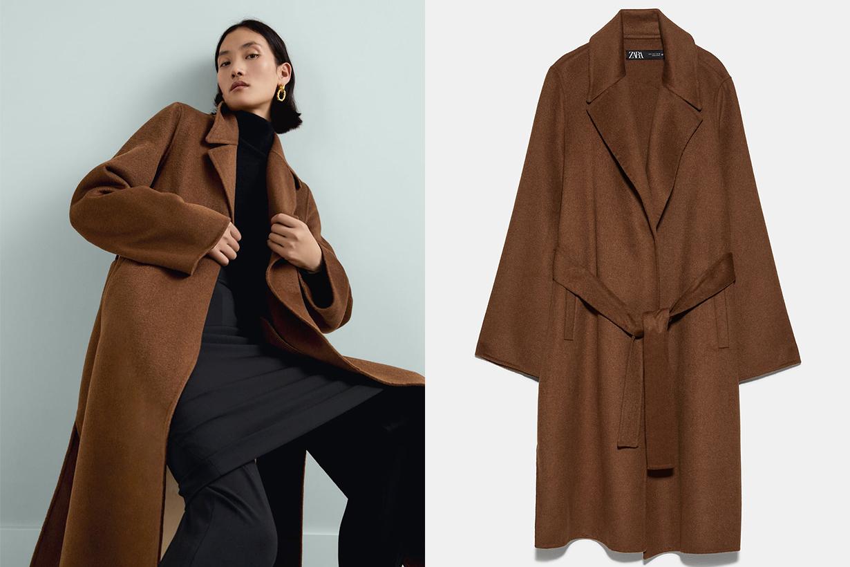 Zara Brown Belted Coat