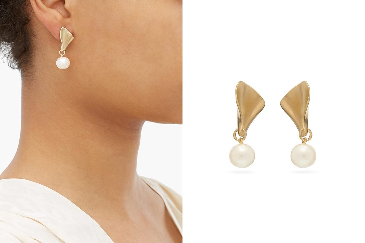 18kt Gold Pearl-drop Earrings