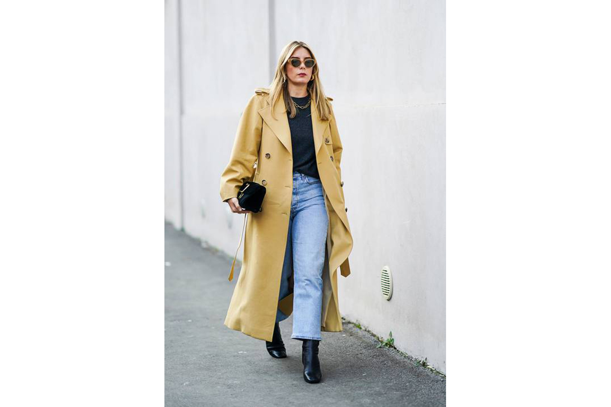 Trench Coat with Jeans Street Style