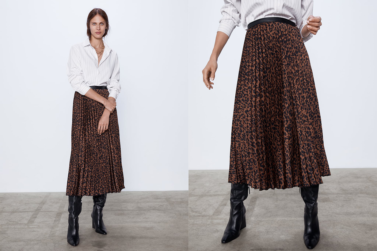 Zara Animal Print Skirt